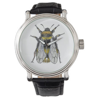 Bumble Bee Watercolour Artist Watch
