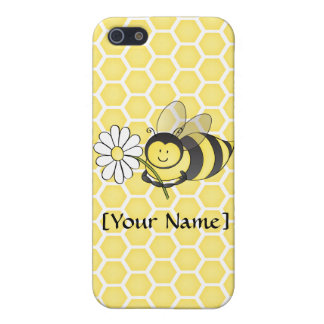 Bumble Bee with Daisy iPhone 5 Cases