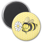 Bumble Bee with Daisy Magnet