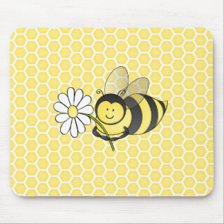 Bumble Bee with Daisy Mouse Mat