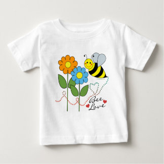 Bumble Bee With Flowers Bee Love Baby T-Shirt