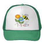 Bumble Bee With Flowers Bee Love Cap