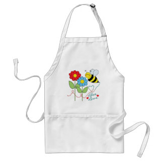 Bumble Bee With Flowers Bee Love Standard Apron