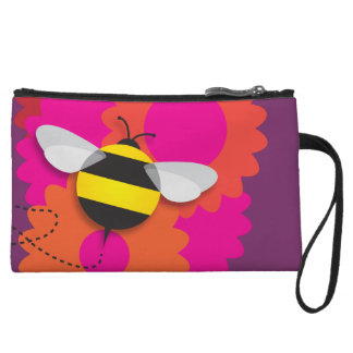 Bumble Bee Wristlet Purses