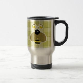 Bumble Bee Yellow Checks Travel Mug