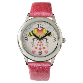 Bumble Bees Love Hearts Watch