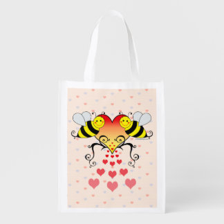 Bumble Bees With Hearts Design
