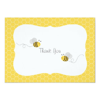 Bumble BeeThank You Cards 11 Cm X 16 Cm Invitation Card