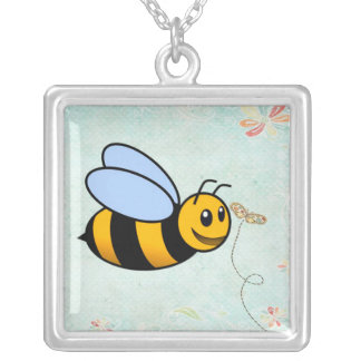 Bumblebee Animal Silver Necklace