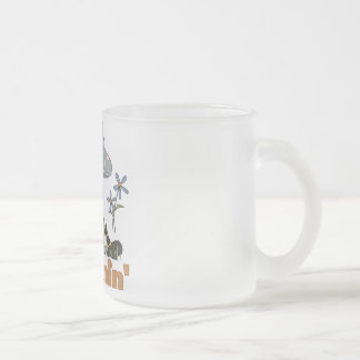 Bumblebee Dreamin' Frosted Glass Mug