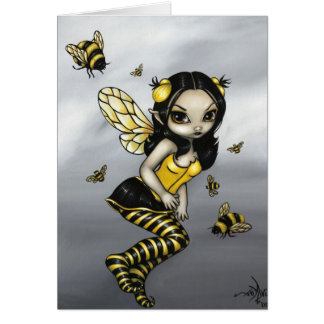 """Bumblebee Fairy"" Greeting Card"