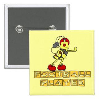 Bumblebee Football Player Tshirts and Gifts Pins