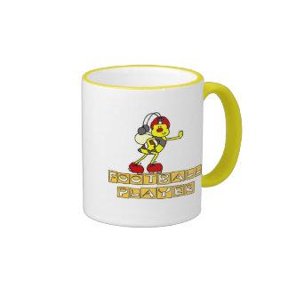 Bumblebee Football Player Tshirts and Gifts Ringer Mug