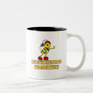 Bumblebee Football Player Tshirts and Gifts Two-Tone Mug