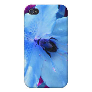 Bumblebee in Blue iPhone 4 Cover