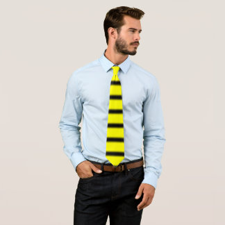 Bumblebee Inspired Black & Yellow Stripes Pattern Tie