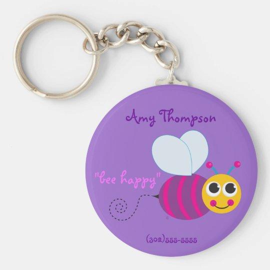 Bumblebee Keychain ID Tag