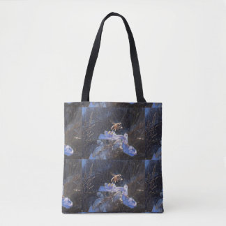 BUMBLEBEE ON A SPIDERWART - STARLIGHT EDITION TOTE