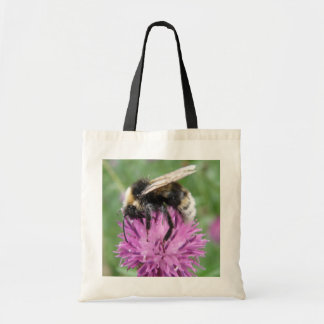 Bumblebee on a Thistle Budget Tote Bag