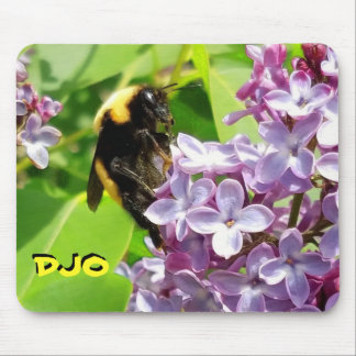Bumblebee on Lilac blossom Your Initials Mouse Mat