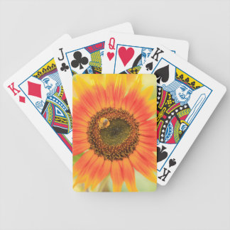Bumblebee on sunflower, Community Garden Bicycle Playing Cards