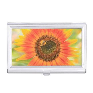 Bumblebee on sunflower, Community Garden Business Card Holder