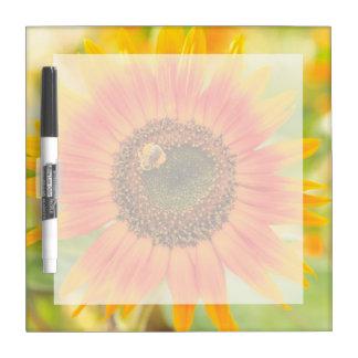 Bumblebee on sunflower, Community Garden Dry Erase Board