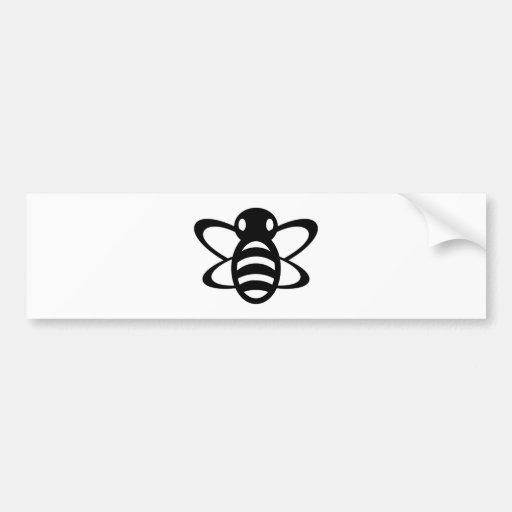 Bumblebee or Bumble Bee Honey Queen Wasp Black Bumper Stickers
