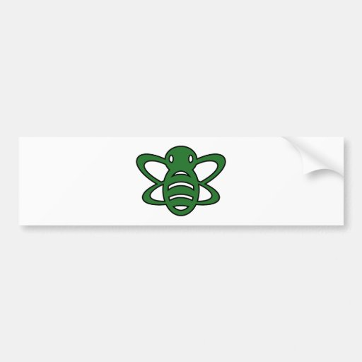 Bumblebee or Bumble Bee Honey Queen Wasp Green Bumper Sticker