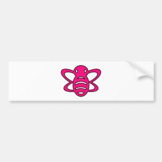 Bumblebee or Bumble Bee Honey Queen Wasp Pink Bumper Sticker