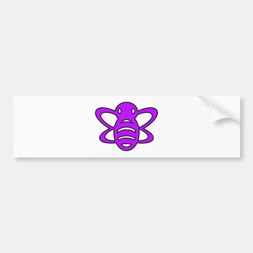 Bumblebee or Bumble Bee Honey Queen Wasp Purple Bumper Stickers