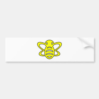 Bumblebee or Bumble Bee Honey Queen Wasp Yellow Bumper Sticker