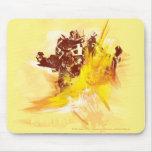 Bumblebee Paint Strokes Mousepad