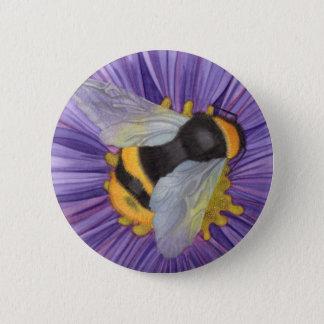 Bumblebee pin! 6 cm round badge
