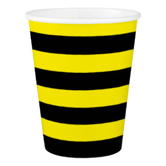 Bumblebee Stripes Cup, 9 oz Paper Cup