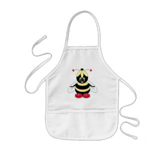 Bumblebee with Flower Hat Apron