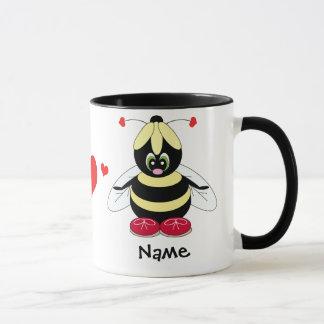 Bumblebee with Hearts Love Mug