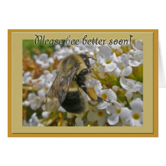 Bumblebee with Pollen Baskets Get Well Card
