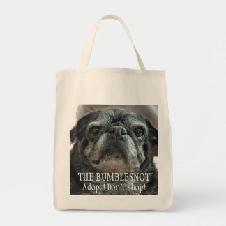"Bumblesnot ""Facing front"" grocery/tote bag"