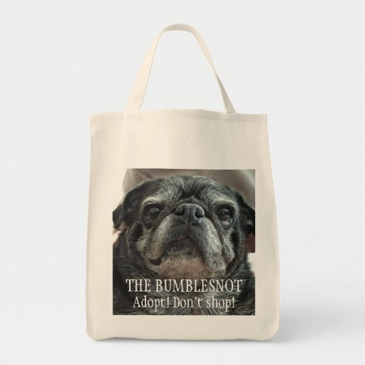 """Bumblesnot """"Facing front"""" grocery/tote bag"""