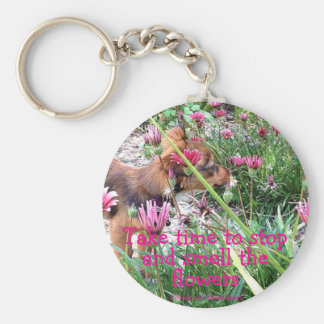 Bumblesnot keychain: The Wee One/Smell the flowers Basic Round Button Key Ring