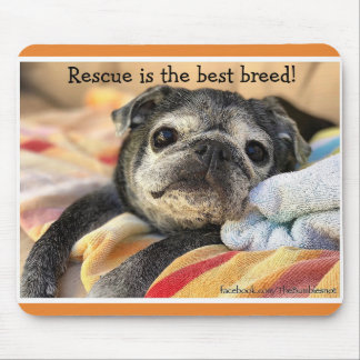 Bumblesnot mousepad: Rescue is the best breed! Mouse Mat
