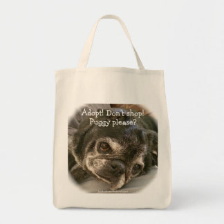 Bumblesnot tote bag: Puggy please?