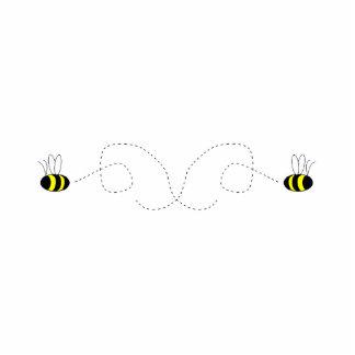Bumbling Bumble Bees Ornament Photo Sculpture Decoration