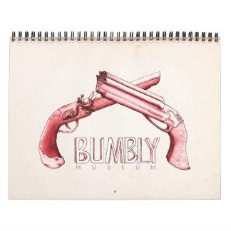 Bumbly Museum - Pistols Intl Wall Calendar