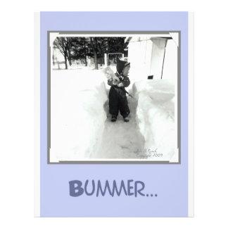 Bummer Boy with Snow Shovel 21.5 Cm X 28 Cm Flyer