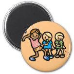 bummin' around button. 6 cm round magnet