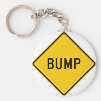 Bump Highway Sign (Word) Basic Round Button Key Ring