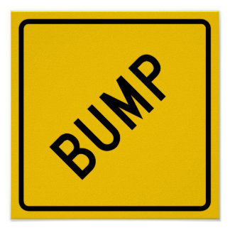 Bump Highway Sign (Word) Poster