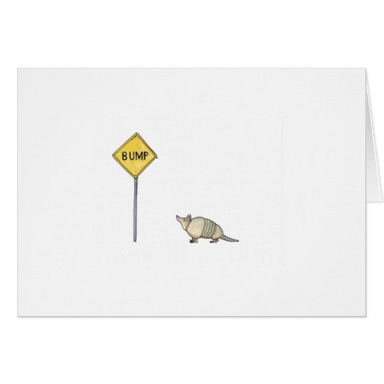 Bump in the Road Greeting Card